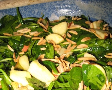 Spinach Salad with Apples and Almonds