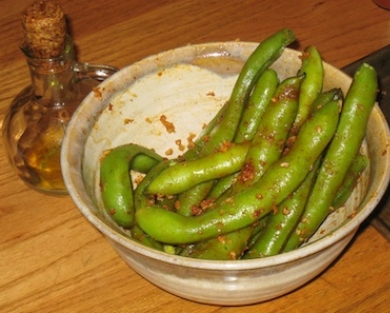 Favas in Bowl with Seasonings