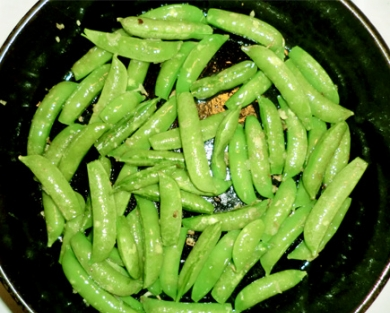 Snap Peas In the Saute Pan